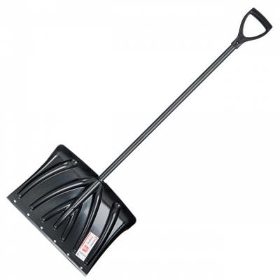 Лопата для уборки снега 460*340мм с ручкой 1300 мм INTERTOOL FT-2021
