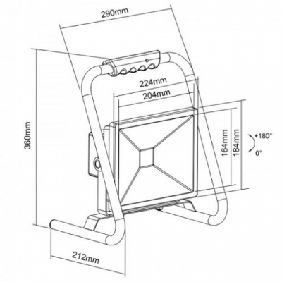 Прожектор светодиодный с подставкой LMR01-30W