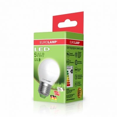 "Светодиодная лампа EUROLAMP LED ЕКО ""D"" G45 прозрачная 5W E27 3000K LED-G45-05273(D)"