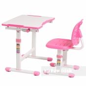 Комплект FUNDESK парта + стул трансформеры OMINO PINK