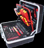 Набор инструментов для електрика 125 предметов, алюминиевый кейс