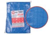 AB-0203 Тент синий, полиэтиленовый, плотностью 65г/м², с проушинами и двусторонней ламинацией, 2*3м