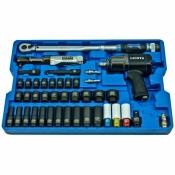 Набор с гайковертом, пневмотрещоткой, ударными головками и динамометрическим ключом LICOTA (ACK-B1001)