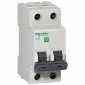 Автоматический выключатель 2-х полюсный SCHNEIDER EZ9 2P 25A C EZ9F34225