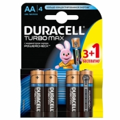 Батарейка Duracell Turbo AА 3+1шт LR6