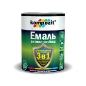 """Эмаль антикорозионная 3 в 1 """"Kompozit""""(чёрная, 0.75 кг)"""