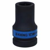 "Головка 1"" 24мм ударная удлин 6 гранн KING TONY 843524M"