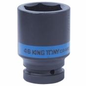 "Головка 1"" 46мм ударная удлин 6 гранн KING TONY 843546M"