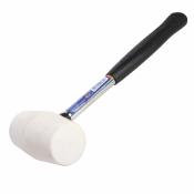 Киянка резиновая MIOL с металлической ручкой 225г (белая резина) 32-710