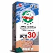 Клей ANSERGLOB BCХ 30 клеевая смесь для плитки 25кг