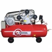 Компрессор поршневой INTERTOOL PT-0036 3-х цилиндровый воздушный 100л 5HP 4кВт 8атм