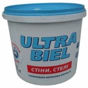 Краска Снежка Ультра-Бель акриловая эмульсия 1,4 кг (1л)
