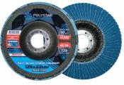 Круг лепестковый торцевой шлифовальный Zircon 100% Т27 P40 125 прямой цирконевый Polystar Abrasive