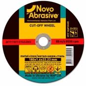 Круг отрезной Novoabrasive по металлу 115*1,0*22,2 1/25/200/1 WM11510