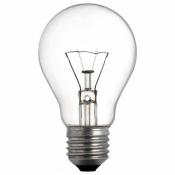 Лампа 100Вт Е27 ЛЗП А50 230В  Искра прозрачная манжета 1/100
