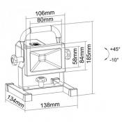 Прожектор светодиодный с подставкой LMR02-10WDM