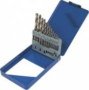 Набор сверл MIOL 22-095 по металлу Р6М5 белых 19шт 1,0-10,0мм (метал коробка)
