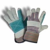 Перчатки комбинированные Х/Б-кожа спилок