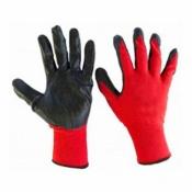 Перчатки стрейчевые ЛЮКС красно-чёрные