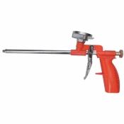 Пистолет для пены монтажной Budmonster никелевое покрытие + 4 насадки