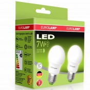 """Промо-набор EUROLAMP LED Лампа A50 7W E27 4000K MLP-LED-A50-07274(E) акция """"1+1"""""""