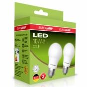Промо-набор EUROLAMP LED Лампа A60 10W E27 3000K MLP-LED-A60-10272(E) акция 1+1