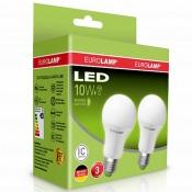 """Промо-набор EUROLAMP LED Лампа A60 10W E27 4000K акция """"1+1"""" MLP-LED-A60-10274(E)"""