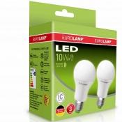 Промо-набор EUROLAMP LED Лампа A60 10W E27 4000K MLP-LED-A60-10274(E) акция 1+1