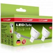 "Промо-набор EUROLAMP LED Лампа MR16 3W GU5.3 4000K MLP-LED-03534(T)new акция ""1+1"""