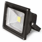 Прожектор EUROELECTRIC LED COB 10W 6500K classic LED-FL-10(black) светодиодный черный