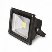 Прожектор EUROELECTRIC LED COB 30W 6500K classic LED-FL-30(black) черный