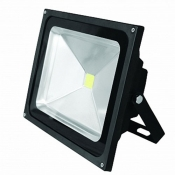 Прожектор EUROELECTRIC LED COB 50W 6500K classic LED-FL-50(black) светодиодный черный