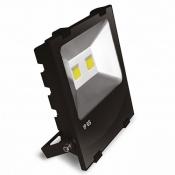 Прожектор EUROELECTRIC LED COB черный с радиатором 100W 6500K modern LED-FLR-COB-100 светодиодный