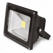 Прожектор EUROELECTRIC LED COB с датчиком движения 30W 6500K LED-FL-30(black) светодиодный