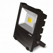 Прожектор EUROELECTRIC LED COB с радиатором 50W 6500K modern LED-FLR-COB-50 светодиодный черный