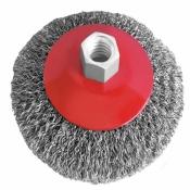 Щетка конусная INTERTOOL BT-5115 для УШМ, М14 115мм (витая проволока) чашечная