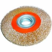 Щетка крацовка Бригадир Standart Щ 14-503 круглая для точила гофр пров 125 мм