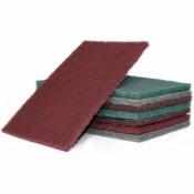 Скотч брайт лист Р400 бордовый 150х230 10шт в спайке Polystar Abrasive