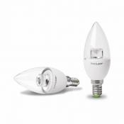 """Светодиодная лампа EUROLAMP LED ЕКО """"D"""" CL прозрачная свеча 6W E14 3000K LED-CL-06143(D)clear"""