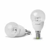 """Светодиодная лампа EUROLAMP LED ЕКО """"D"""" G45 прозрачная 5W E14 3000K LED-G45-05143(D)clear"""
