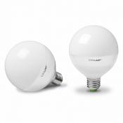 """Светодиодная лампа EUROLAMP LED  ЕКО """"D"""" G95 15W E27 3000K шар LED-G95-15272(D)"""