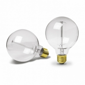 Светодиодная лампа EUROLAMP ЛОН ArtDeco G95 60W E27 2700K dimmable GL-60272(deco) шар