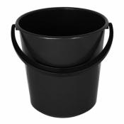 Ведро пластмассовое техническое чёрное 10л 64719000