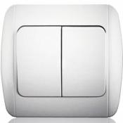 Выключатель 2-двуклавишный Erste Classic 9201-02 W белый