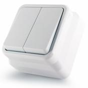 Выключатель 2-клавишный Erste Country 8005-02,W белый